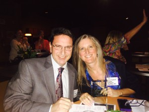 CSS CEO Lisa Cusack with COO Bob Cusack at the Leesburg Small Business Awards