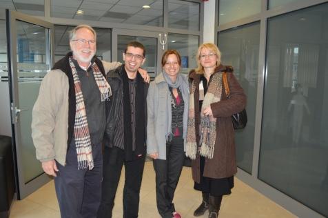 Louis Mattia, Zoltan Kosina, Kinga Ile and Marianna Medveczki from Dyntell